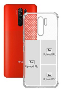 3 images For Poco M2 Your Photo on Transparent Mobile Cases