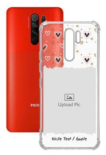 Love Theme For Poco M2 Personalised Transparent Clear Phone Case
