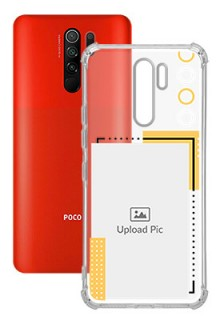 Yellow Photo Frame For Poco M2 Customized Transparent Mobile Cases