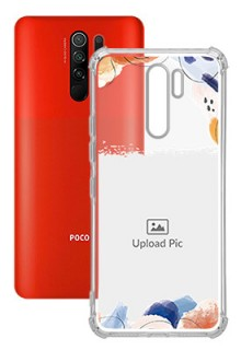 Water Colour Splash For Poco M2 Your Photo on Transparent Mobile Cases