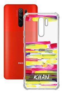 Brush Coloured For Poco M2 Your Photo on Transparent Mobile Cases