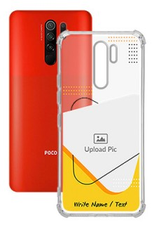 Yellow Triangle For Poco M2 Your Print on Transparent Mobile Cases