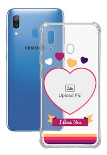 Love Shape images For Galaxy A20 Custom Transparent Clear Phone Case