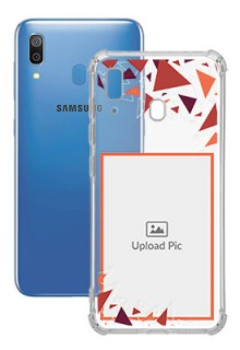 Triangle Flakes Design For Galaxy A20 Personalised Transparent Clear Phone Case