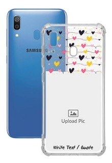 Love Multicolored For Galaxy A20 Customized Transparent Mobile Cases
