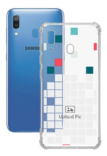 Mosaic Design For Galaxy A20 Customized Transparent Mobile Cases