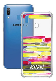 Brush Coloured For Galaxy A20 Your Photo on Transparent Mobile Cases