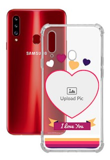 Love Shape images For Galaxy A20S Custom Transparent Clear Phone Case