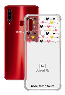 Love Multicolored For Galaxy A20S Customized Transparent Mobile Cases