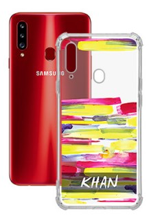 Brush Coloured For Galaxy A20S Your Photo on Transparent Mobile Cases