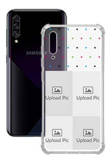 4 images For Galaxy A30S Custom Transparent Clear Phone Case