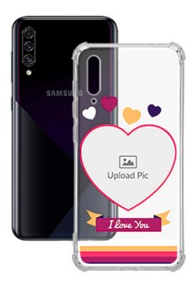 Love Shape images For Galaxy A30S Custom Transparent Clear Phone Case