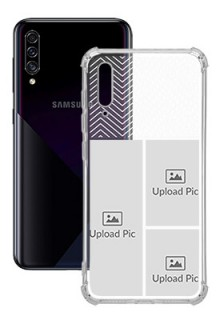 3 images For Galaxy A30S Your Photo on Transparent Mobile Cases