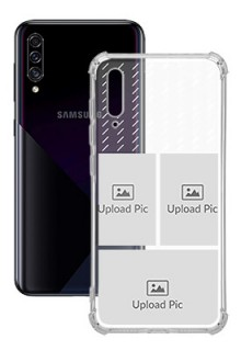 3 images with Text For Galaxy A30S Custom Transparent Clear Phone Case