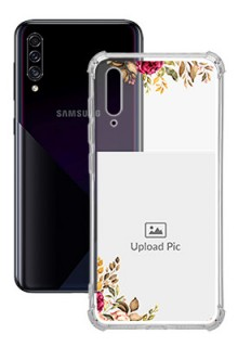 Floral Design For Galaxy A30S Custom Transparent Clear Phone Case