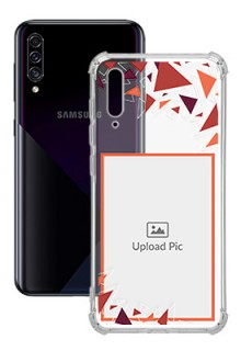 Triangle Flakes Design For Galaxy A50 Personalised Transparent Clear Phone Case