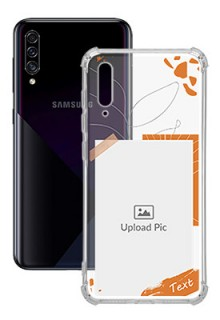 Orange Photo Frame For Galaxy A50 Your Photo on Transparent Mobile Cases