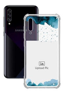 Blue Water Color For Galaxy A50 Personalised Transparent Clear Phone Case