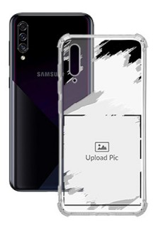 Grunge Brush Strokes For Galaxy A50 Custom Transparent Clear Phone Case