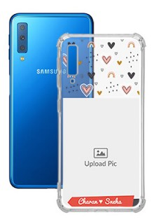 Love Pattern For Galaxy A7 (2018) Your Photo on Transparent Mobile Cases