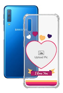 Love Shape images For Galaxy A7 (2018) Custom Transparent Clear Phone Case
