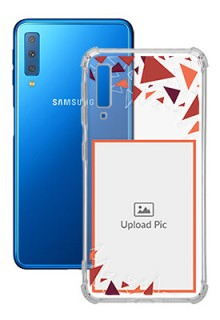 Triangle Flakes Design For Galaxy A7 (2018) Personalised Transparent Clear Phone Case
