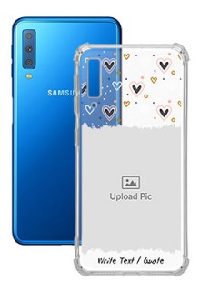 Love Theme For Galaxy A7 (2018) Personalised Transparent Clear Phone Case