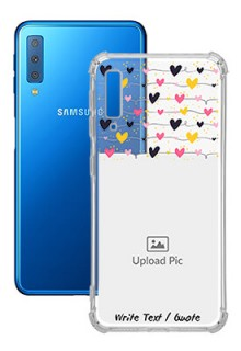 Love Multicolored For Galaxy A7 (2018) Customized Transparent Mobile Cases