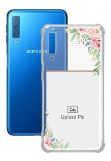 Floral Design Theme For Galaxy A7 (2018) Your Photo on Transparent Mobile Cases