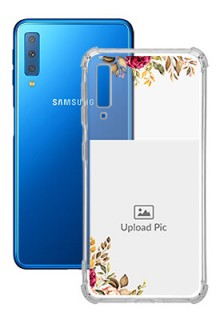 Floral Design For Galaxy A7 (2018) Custom Transparent Clear Phone Case