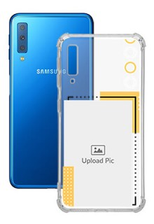 Yellow Photo Frame For Galaxy A7 (2018) Customized Transparent Mobile Cases