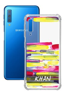 Brush Coloured For Galaxy A7 (2018) Your Photo on Transparent Mobile Cases