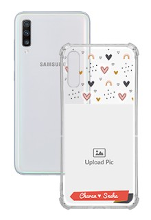 Love Pattern For Galaxy A70 Your Photo on Transparent Mobile Cases