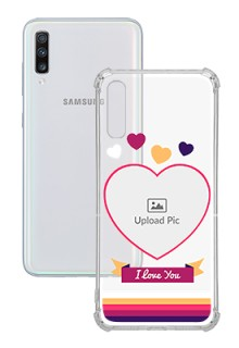 Love Shape images For Galaxy A70 Custom Transparent Clear Phone Case