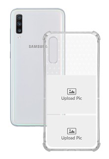 2 images For Galaxy A70 Customized Transparent Mobile Cases