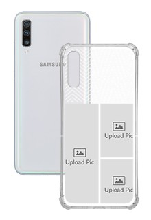 3 images For Galaxy A70 Your Photo on Transparent Mobile Cases