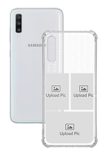 3 images with Text For Galaxy A70 Custom Transparent Clear Phone Case