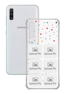 6 images Dotted Design For Galaxy A70 Customized Transparent Mobile Cases