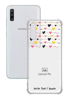 Love Multicolored For Galaxy A70 Customized Transparent Mobile Cases
