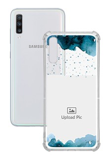 Blue Water Color For Galaxy A70 Personalised Transparent Clear Phone Case