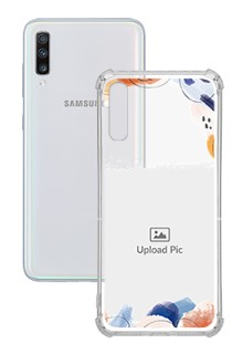 Water Colour Splash For Galaxy A70 Your Photo on Transparent Mobile Cases