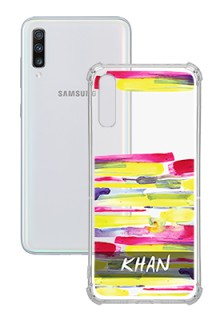 Brush Coloured For Galaxy A70 Your Photo on Transparent Mobile Cases
