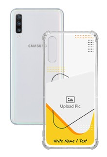 Yellow Triangle For Galaxy A70 Your Print on Transparent Mobile Cases