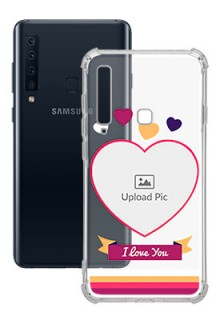 Love Shape images For Galaxy A9 (2018) Custom Transparent Clear Phone Case