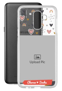 Love Pattern For Galaxy J8 (2018) Your Photo on Transparent Mobile Cases