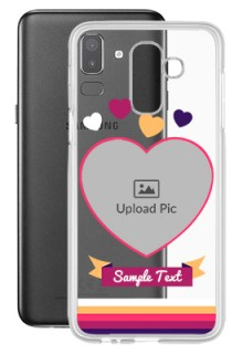 Love Shape images For Galaxy J8 (2018) Custom Transparent Clear Phone Case