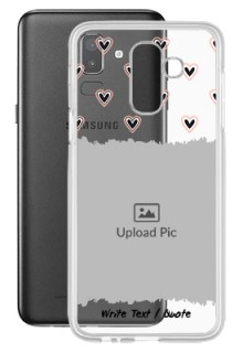 Love Theme For Galaxy J8 (2018) Personalised Transparent Clear Phone Case