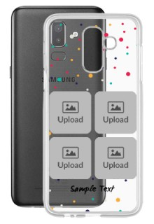 6 images Dotted Design For Galaxy J8 (2018) Customized Transparent Mobile Cases