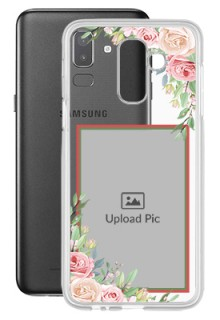 Floral Design Theme For Galaxy J8 (2018) Your Photo on Transparent Mobile Cases