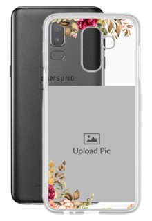 Floral Design For Galaxy J8 (2018) Custom Transparent Clear Phone Case